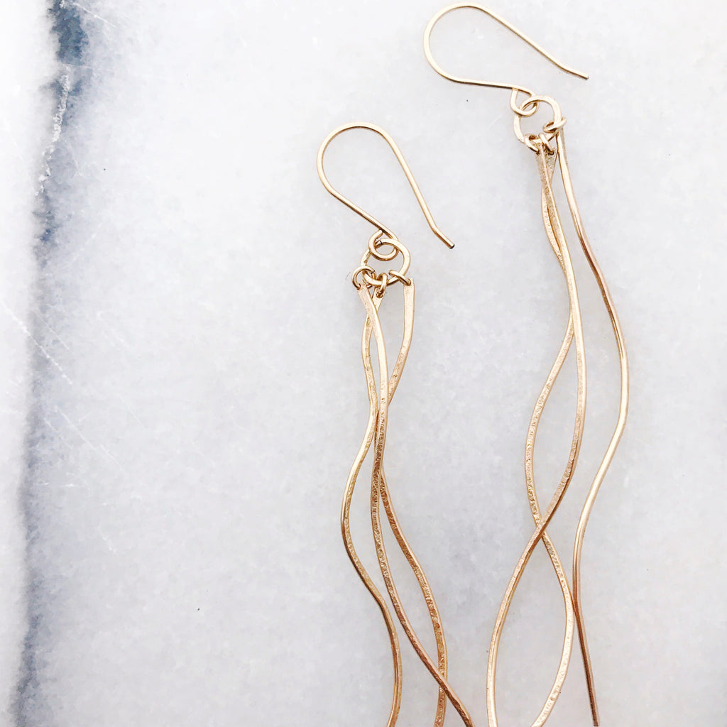 Sea Earrings in Gold