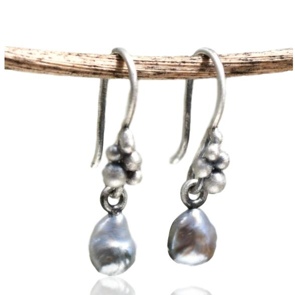 Silver Salted with Tahitian Pearls