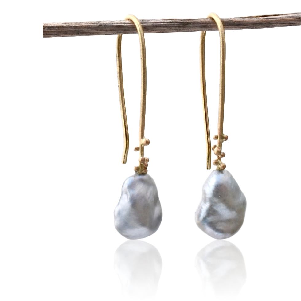 Salted Drops with Tahitian Pearls