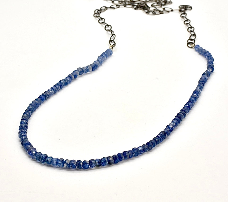 Long Kyanite Necklace / Sterling
