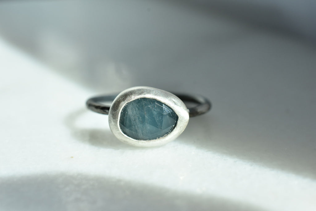 Dark Aquamarine Ring