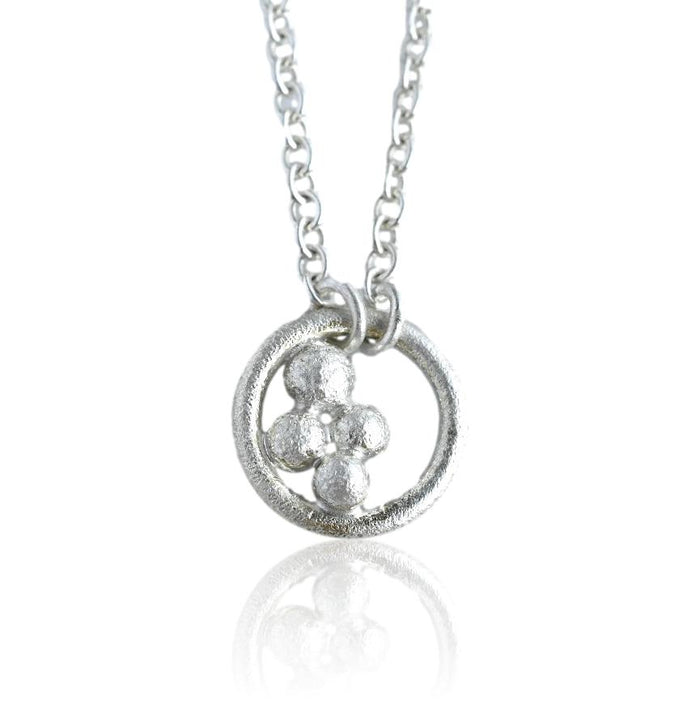 Salted Circle Necklace / Silver