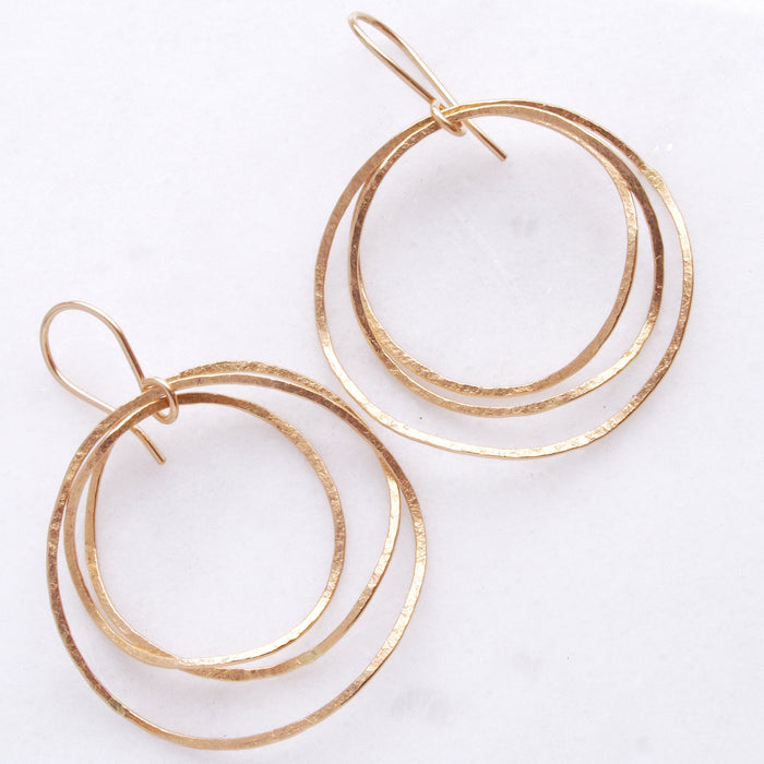 Sea Hoops in Gold