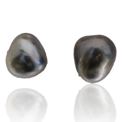Tahitian Pearl Stud Earrings / #2