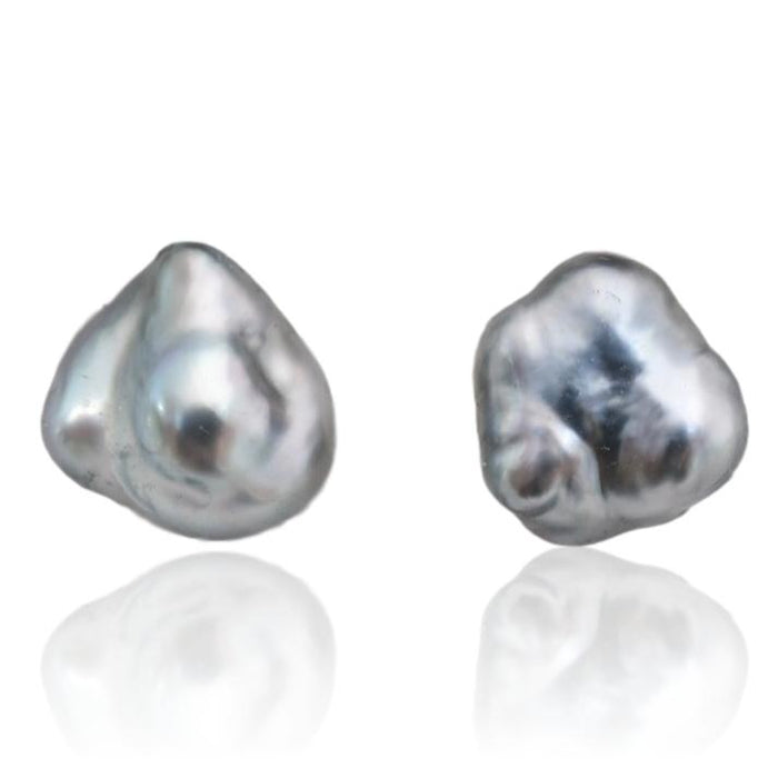 Tahitian Pearl Stud Earrings / #4