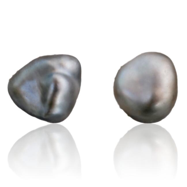 Tahitian Pearl Stud Earrings / #8