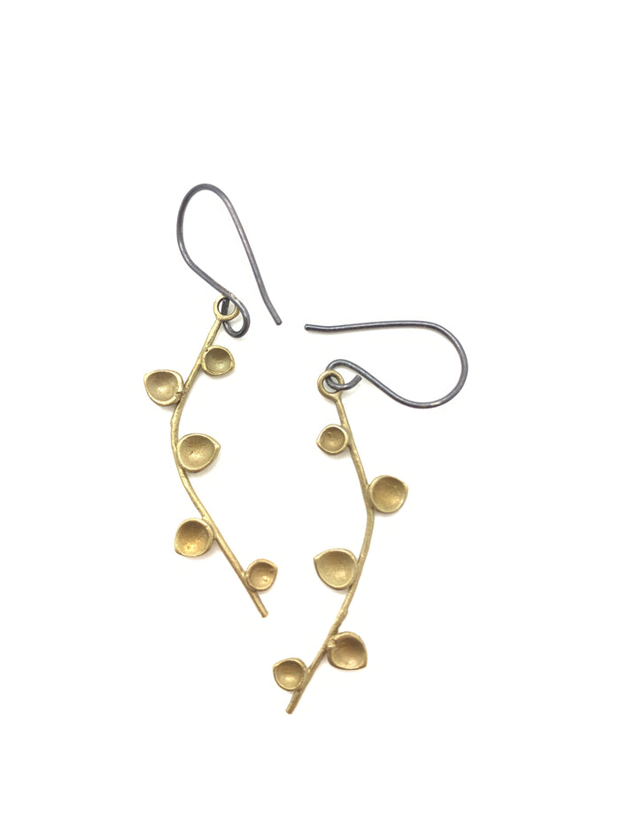 Bud Earrings / Brass