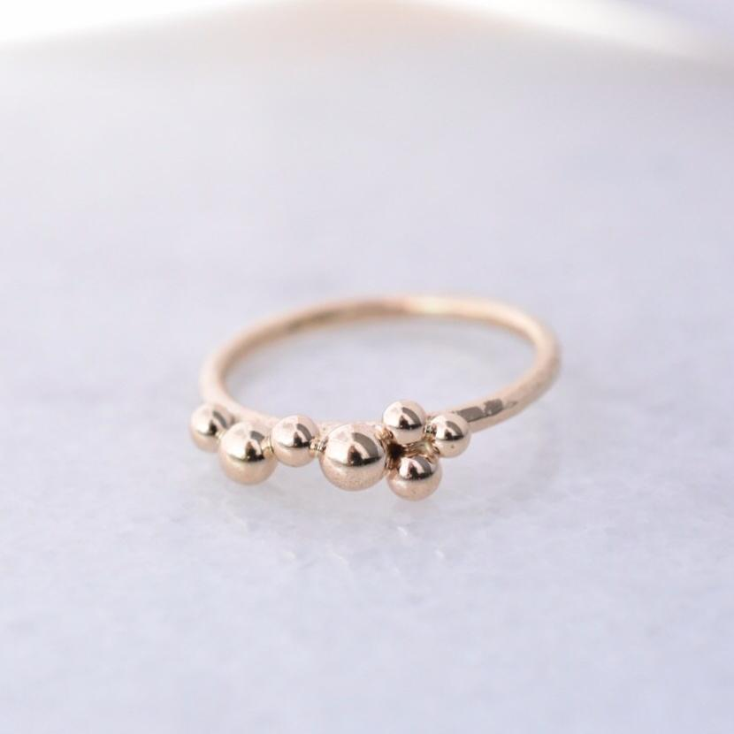 Salted Ring /  14k Yellow Gold