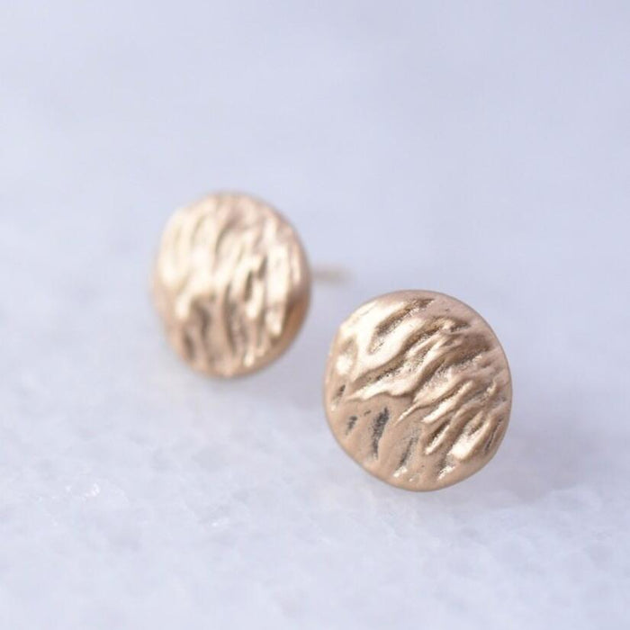 14k gold Wind + Water Stud Earrings