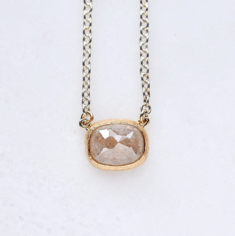 Peach Diamond Necklace