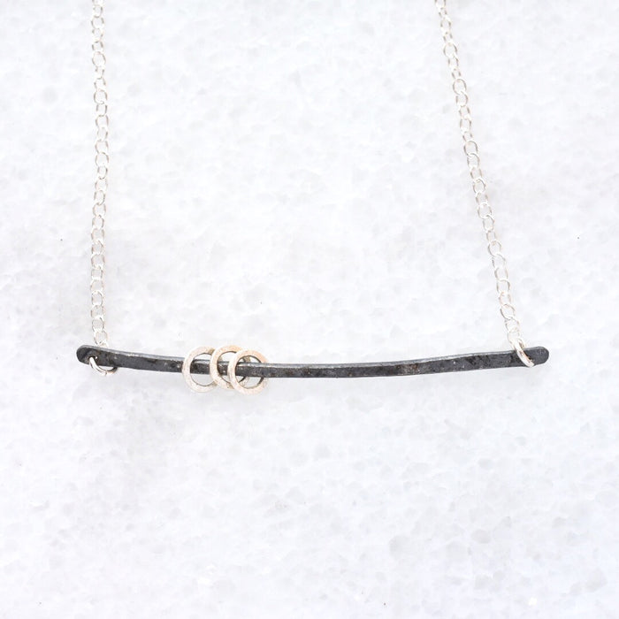 Swing Necklace / Black + Sterling