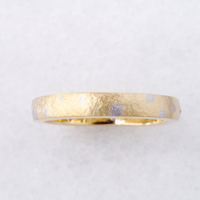Stardust Wedding Band in 18k Gold + Platinum