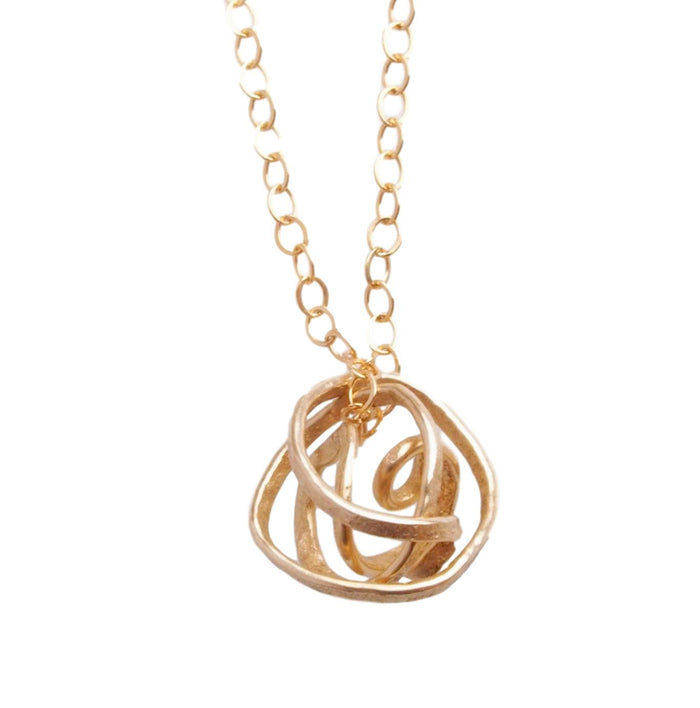 Nest Necklace in Gold
