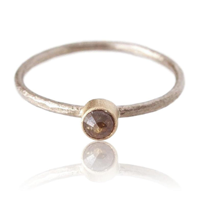 Diamond Stacking Ring / Cognac