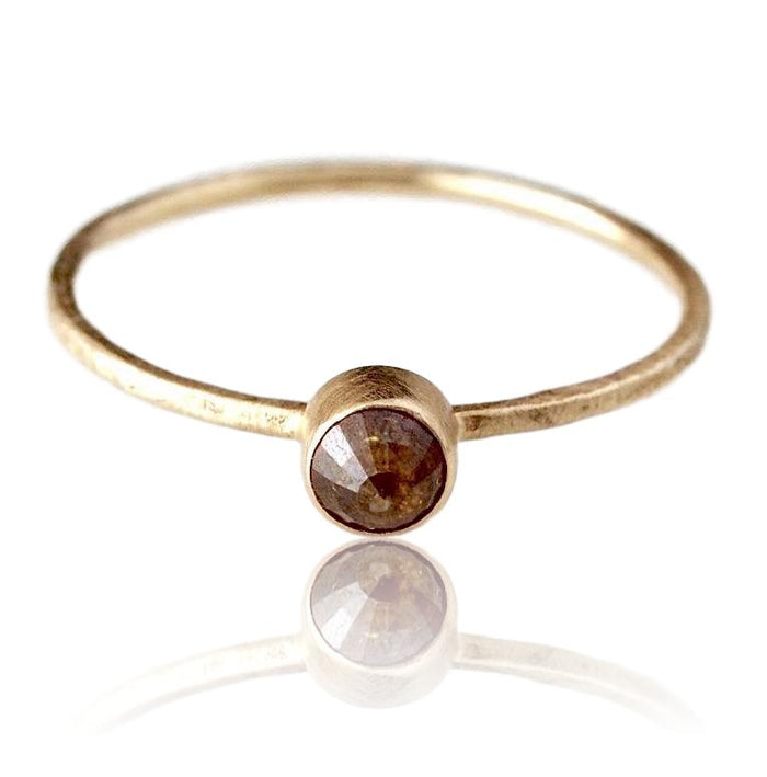 Diamond Stacking Ring / Chocolate