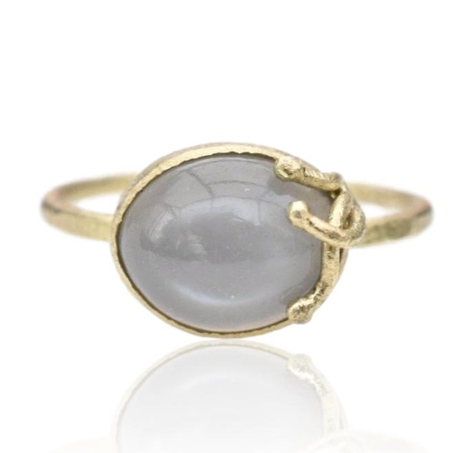 Seaweed Ring / Grey Moonstone