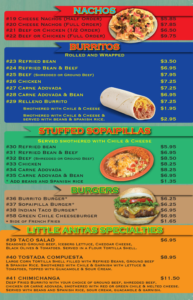 Little Anita's Carry Out Burgers Stuffed Sopas