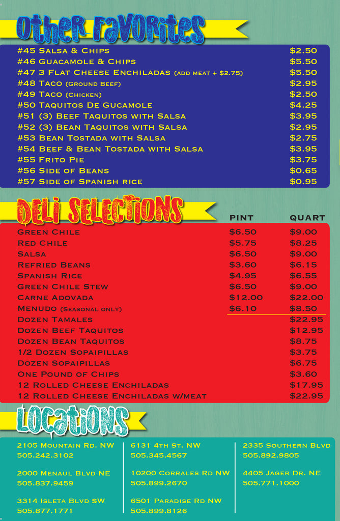 Little Anita's Carry Out Deli Locations