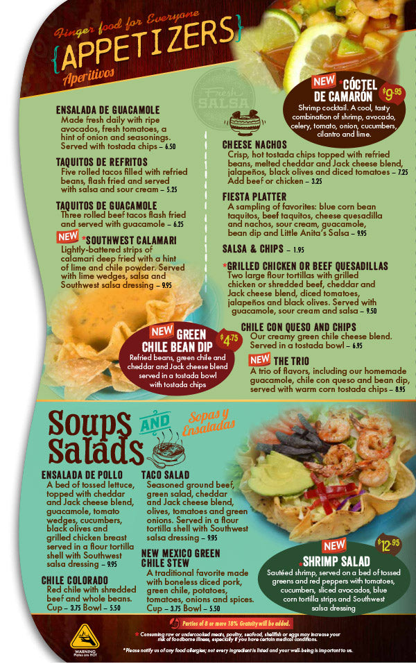 graphic about Cafe Rio Printable Menu called Very little Anitas: Menu - Minor Anitas Fresh Mexico