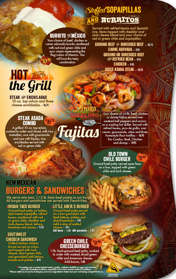 photo regarding Fuzzy's Tacos Printable Menu named Very little Anitas: Menu - Minor Anitas Fresh Mexico