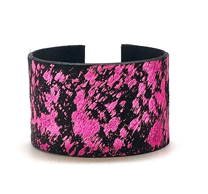 PINK METALLIC HIDE CUFF