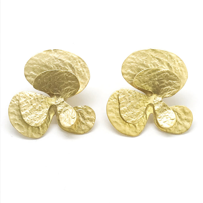 STATEMENT FLOWER STUDS- CLIP