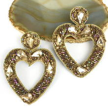 GOLD JEWELED HEART
