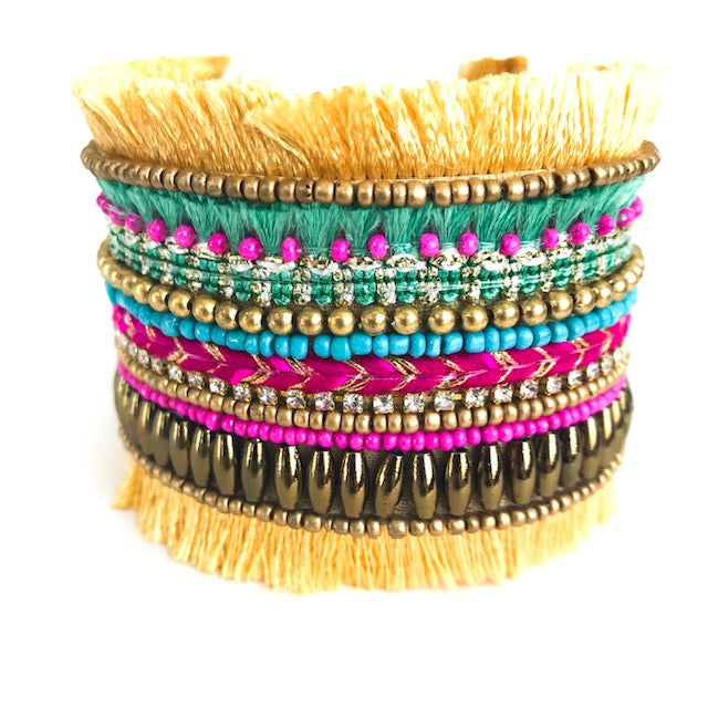 PARTY FRINGE CUFF