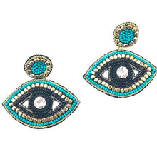 TURQUOISE + GOLD ACCENT EYE DROP