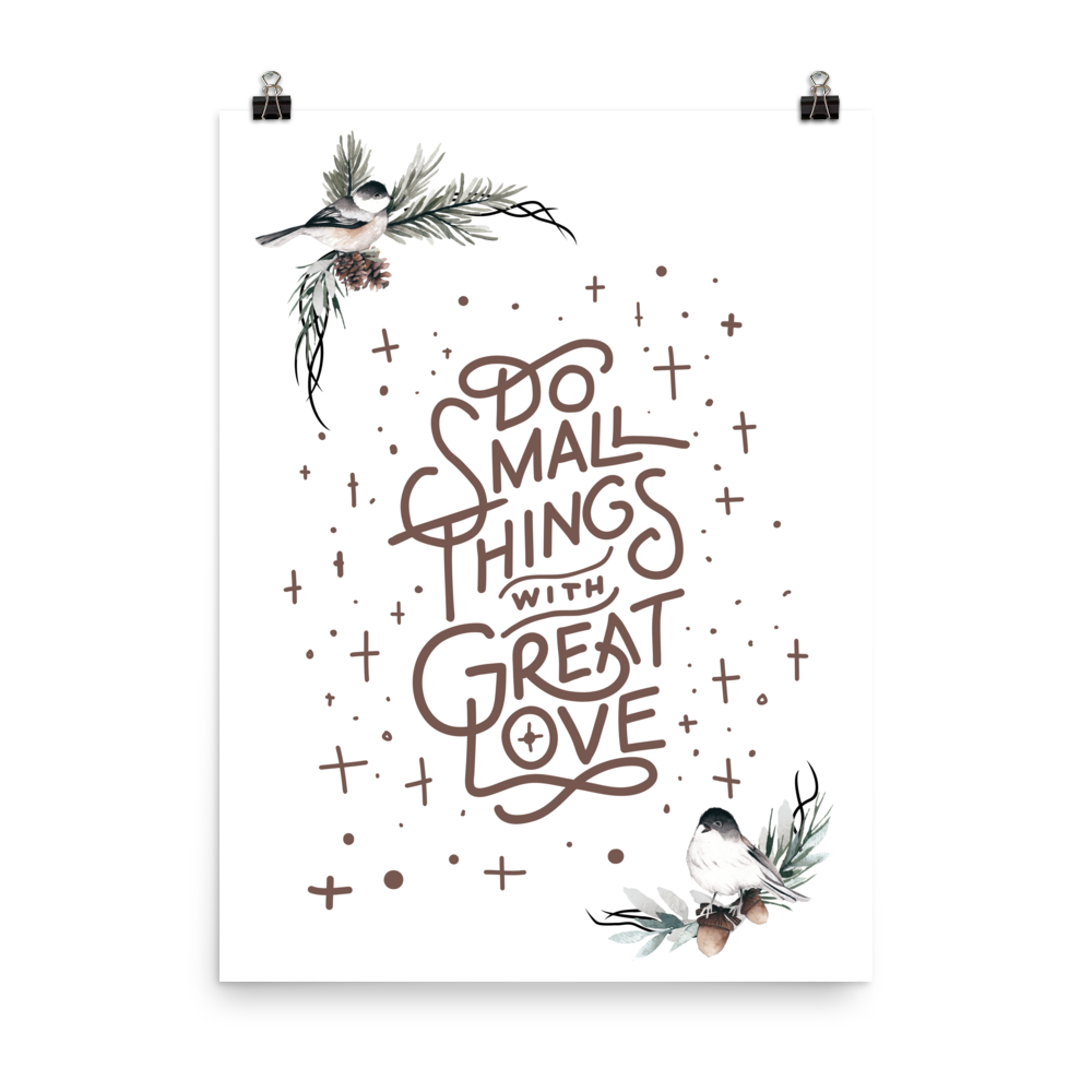 Unframed Small Things Print