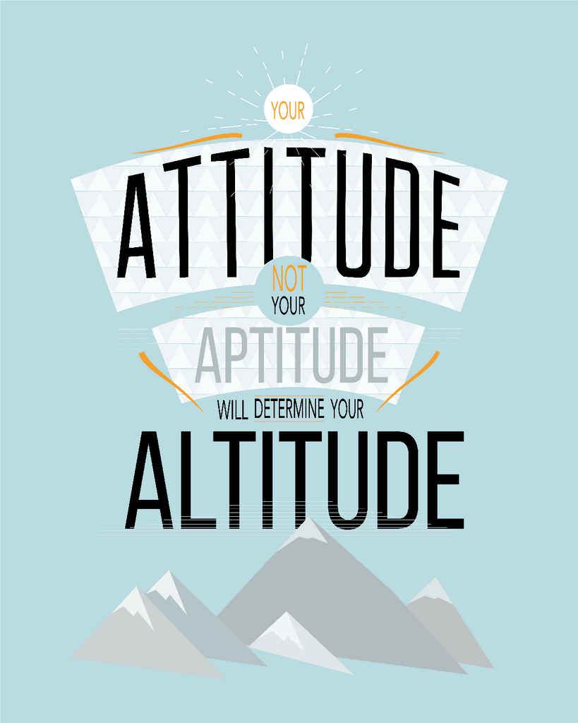 Downloadable Attitude Print