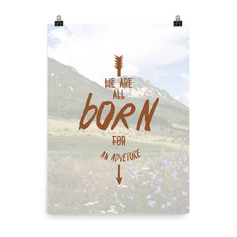 Unframed Born Print