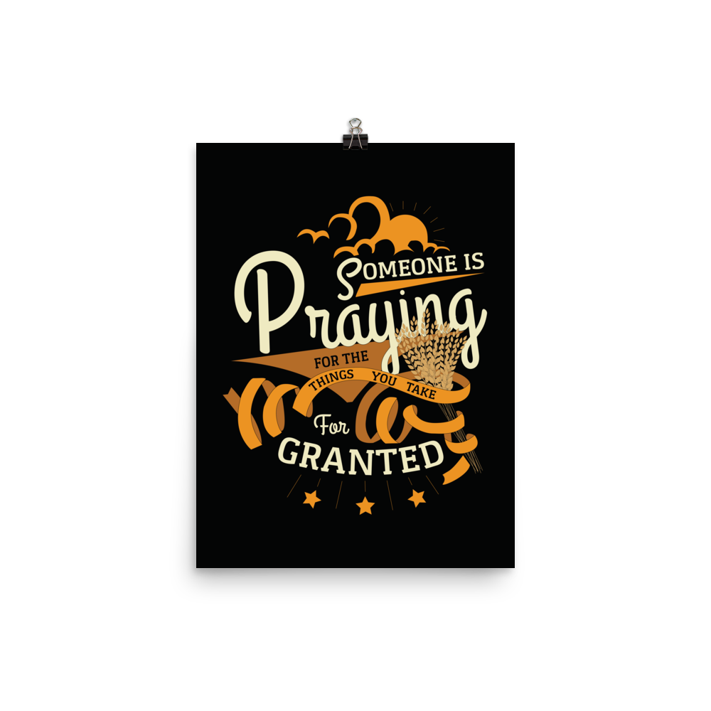 Unframed For Granted Print