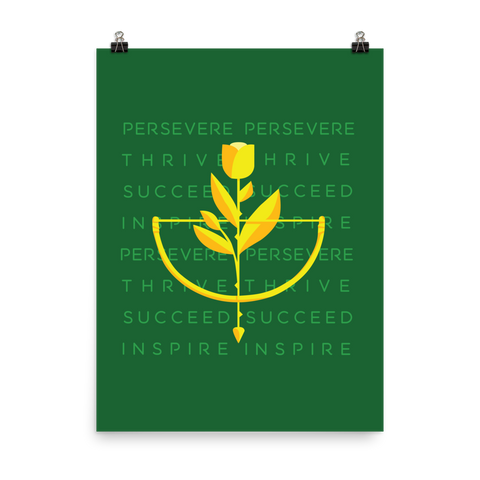Unframed Persevere Print