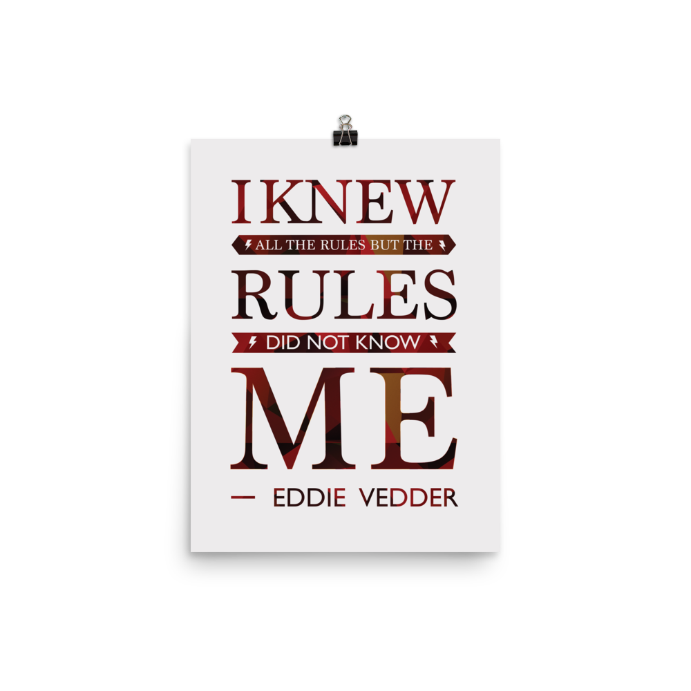 Unframed The Rules Print