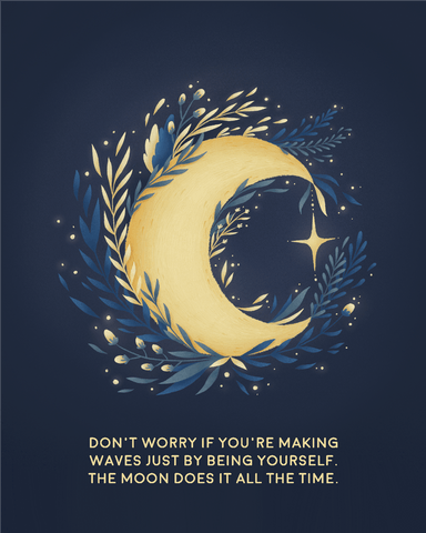 Downloadable Moon Print
