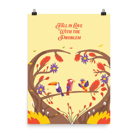 Unframed Fall in Love Print