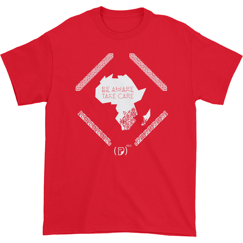 All proceeds will be donated to the Product Red Non-profit to raise awareness and funds to help eliminate HIV/AIDS in Africa.