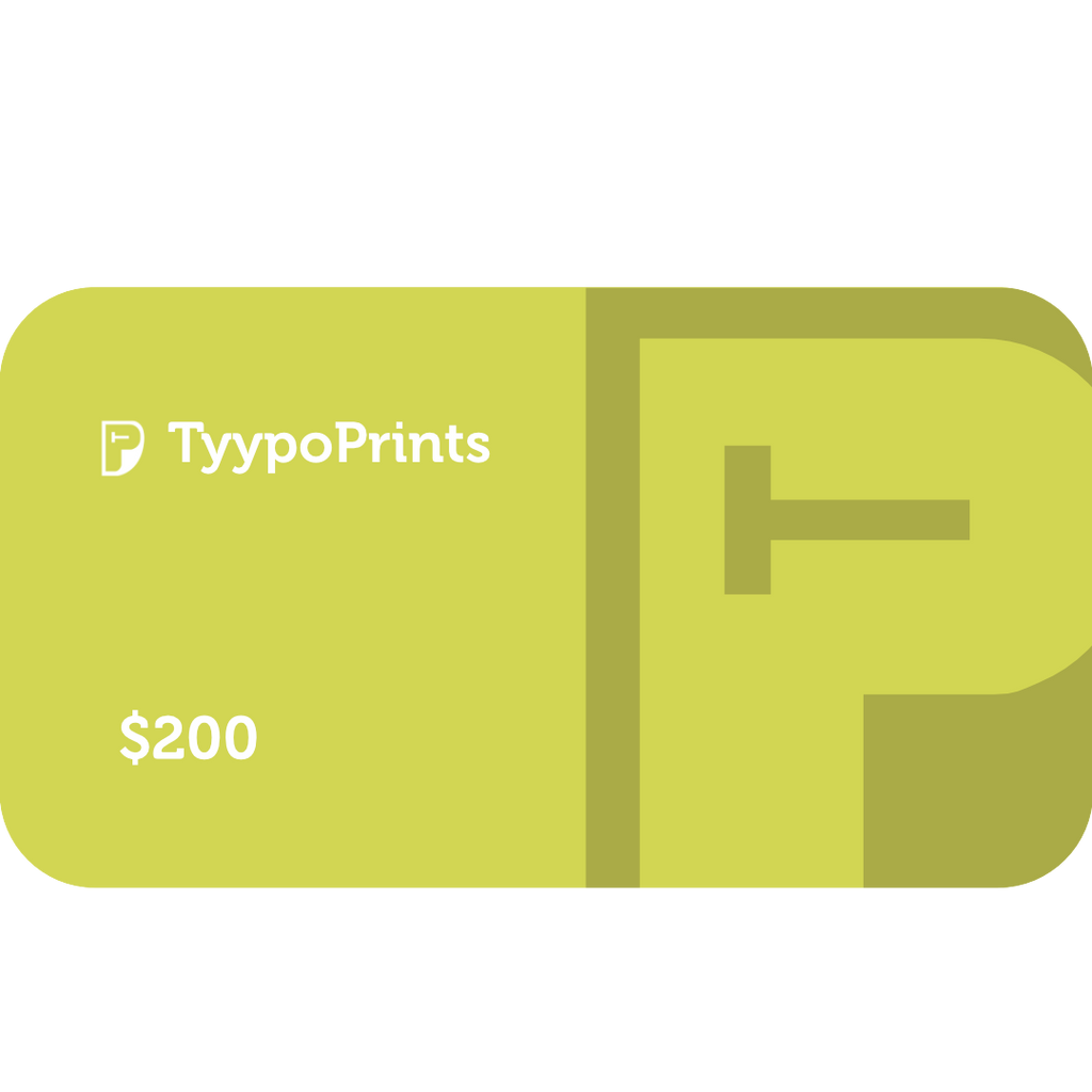 TyypoPrints Gift Card