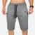 Street lines Sweat Shorts - gray