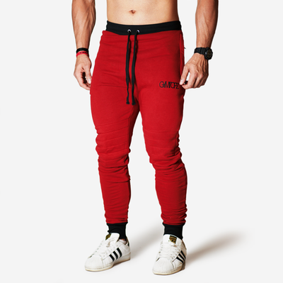 red jogger sweat pant gymtopz
