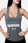 Strong is beautiful Racerback - Gray