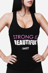 Strong is Beautiful Racerback - Black