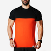 gymtopz black orange t shirt gym shirt