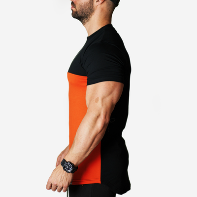 Orange/Black bi-dim T shirt