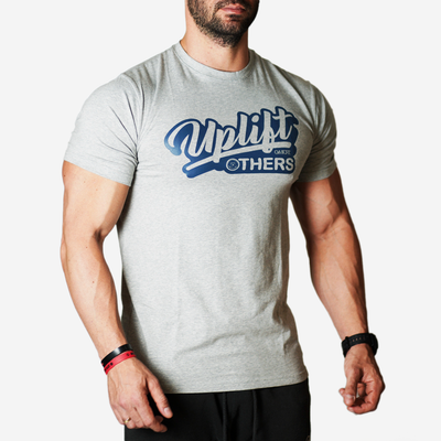 uplift others gray t shirt