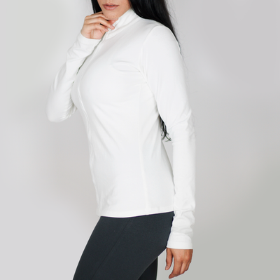 gymtopz snow fusion white jacket