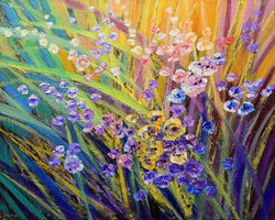 Original spring flower palett knife painting by Tatiana iliina