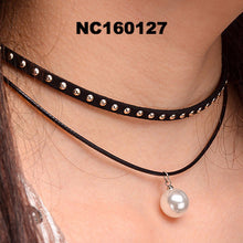 Leather Rope Chain Choker Necklace