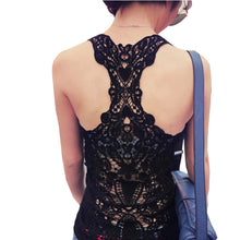 Tank Top Sexy Lace Tops Crochet Back Hollow-out